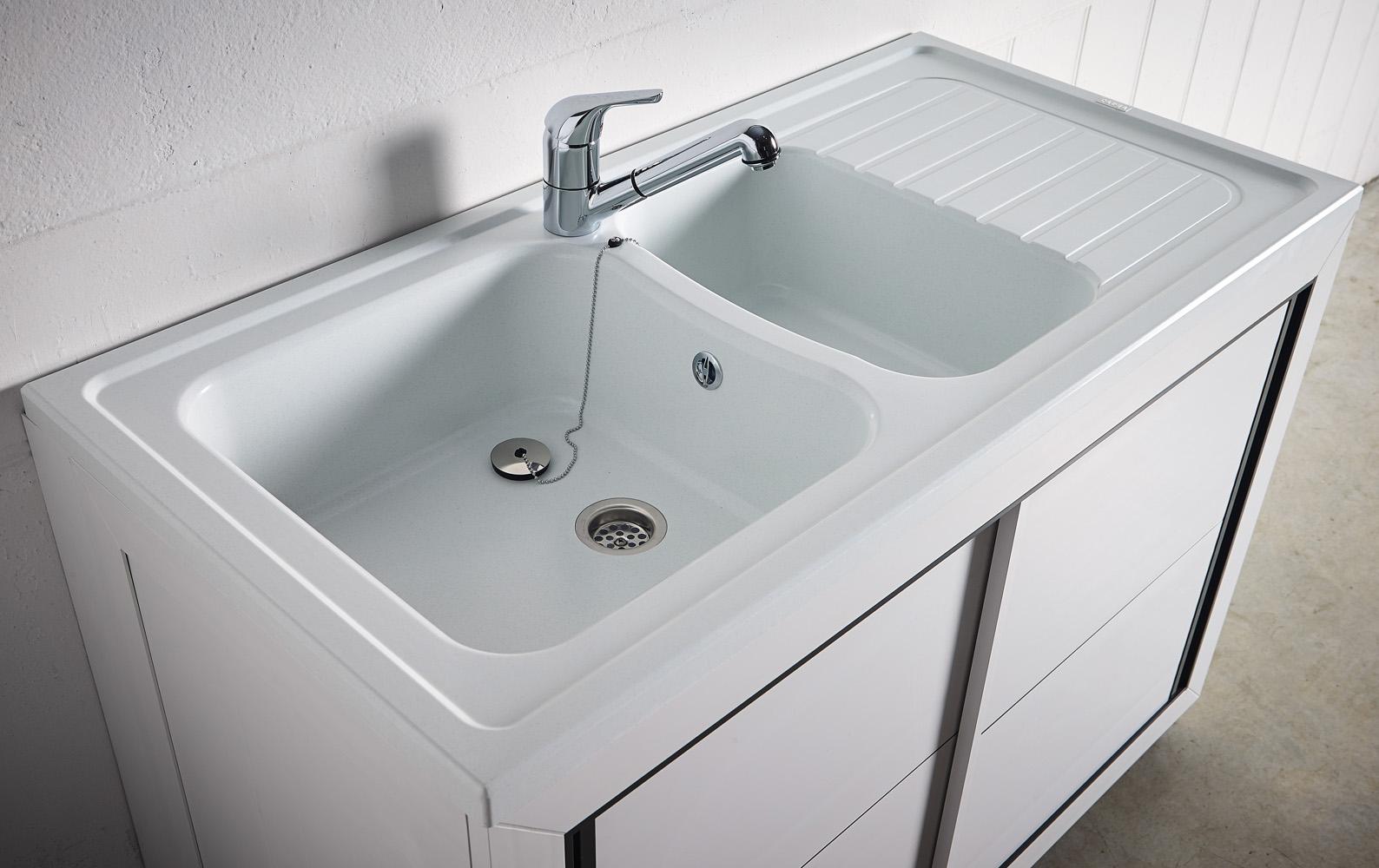 Carea sanitaire vend e normandie meuble pvc carea for Evier et meuble